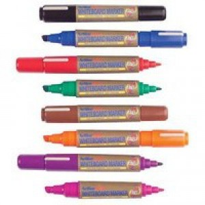 Artline 2-in-1 Whiteboard Marker Chisel Tip Assorted Pack of 8 EK525TA