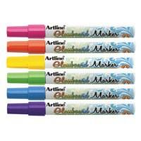 Artline Glass Markers Assorted Pk6 EPG-4W6ASS