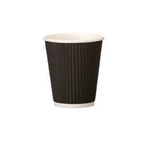 25cl Black Ripple Cup Pk500 HHRWPA8