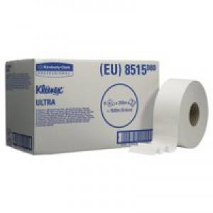 Kleenex Ultra Midi Jumbo Toilet Roll 2-Ply 250 Metre Pack of 6 8515