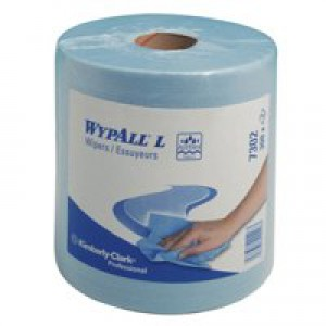 Wypall Wipers Centre Feed Roll 2-Ply Blue 7302