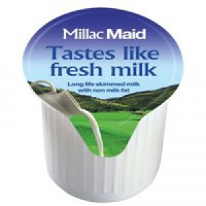 Millac Maid Full Fat Milk Pots Pack of 120