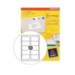 Avery Inkjet Smart Stamp Online Postage Label Logo 135x38mm Pack of 25 Sheets White J5103-25