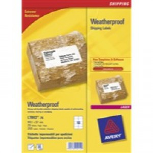 Avery Weatherproof Shipping Label 99.1x57mm Pack of 25 L7992-25