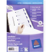 Avery IndexMaker Divider Set Punched A4 5-Part Ref 01810061 L7410-5M