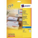 Avery QuickDRY Inkjet Label 63.5x33.9mm 24 per Sheet Pack of 25 J8159-25