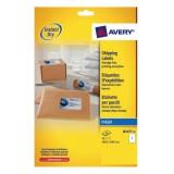 Avery Quick DRY Addressing Labels Inkjet 1 per Sheet 199.6x289.1mm White Ref J8167-25 [25 Labels]