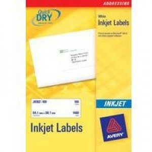 Avery QuickDRY Inkjet Label 199.6x143.5mm 2 per Sheet Pack of 25 J8168-25