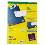 Avery Mini Inkjet Label 17.8x10mm  270 per Sheet Pack of 25 J8659-25