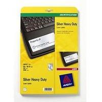 Avery Laser Label 96x50.8mm Heavy Duty Silver 10 per Sheet Pack of 20 L6012-20