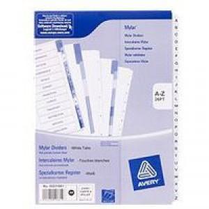 Avery Mylar Alpha Divider A4 Bright White A-Z 26-Part 05231061 (FPC)