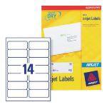 Avery QuickDRY Inkjet Label 99.1x38.1mm 14 per Sheet Pack of 100 J8163-100