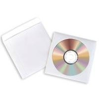 Avery Paper CD/DVD Sleeve Extra Large Window Pack of 100 White SL1760-100