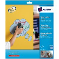 Image for Avery Write and Wipe Shapes Blue Clouds Pack of 4 24913