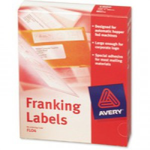 Avery Franking Label for Auto Hopper 140x38mm White FL04