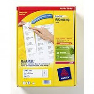 Avery Jam-Free Laser Label 99.1x34mm 16 per Sheet White Pack of 40 L7162-40 (FPC)