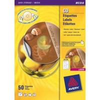 Avery Full Face CD/DVD Laser Labels Pk100