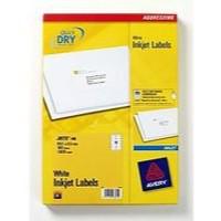 Avery QuickDRY Inkjet Label 99.1x57mm 10 per Sheet 10TV Pack of 100 White J8173-100