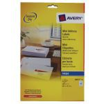 Avery Inkjet Label 38.1x21.2mm 65 per Sheet Pack of 25 J8651-25