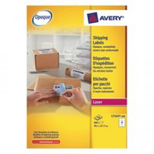 Avery Jam-Free Laser Label 99.1x67.7mm 8 per Sheet White Pack of 100 L7165-100 (FPC)