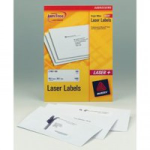 Avery Addressing Labels Laser Jam-free 4 per Sheet 139x99.1mm White Ref L7169-100 [400 Labels]