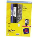 Avery Ring Binder Label Pack of 25 Sheets L7172-25