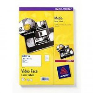 Avery Video Face Label Pack of 25 Sheets L7671-25