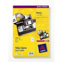 Avery Video Spine Label Pack of 25 Sheets L7674-25