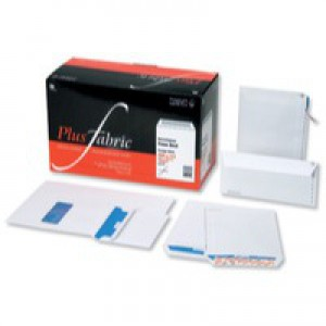 Plus Fabric Envelopes Wallet Peel and Seal Window 110gsm DL White [Pack 500]