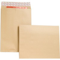 New Guardian Envelopes Heavyweight Peel and Seal Gusset 25mm 130gsm Manilla 406x305mm [Pack 100]