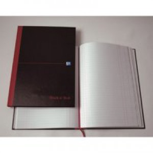 Black n Red Book Casebound 90gsm Single Cash 192 Pages A5 Code 100080414