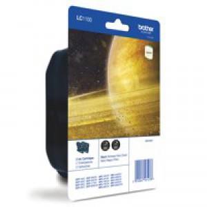 Brother LC-1100 Inkjet Cartridge Twin Pack Black LC1100BKBP2