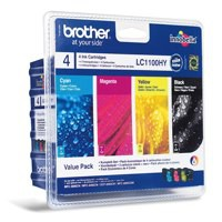 Brother LC-1100 Inkjet Cartridge Value Pack CYMK LC1100VALBP
