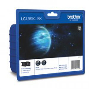 Brother LC-1280XL Inkjet Cartridge Twin Pack Black LC1280XLBKBP2