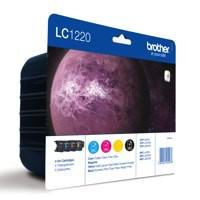 Brother LC-1220 Inkjet Cartridge Value Pack CYMK LC1220VALBP