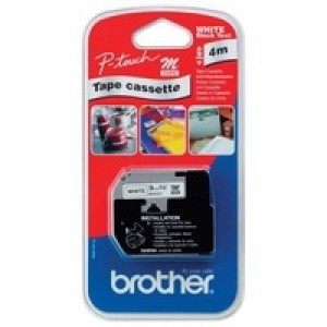 Brother P-Touch Tape 9mm Black/White MK221BZ