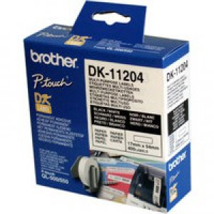 Brother Multi-Purpose Label Pack of 3 DK11204