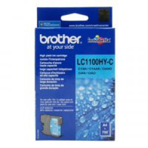 Brother LC-1100 Inkjet Cartridge High Yield Cyan LC1100HYC