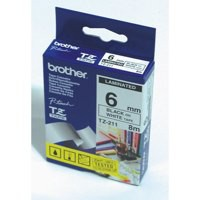 Brother P-Touch TZe Tape 6mm Black/Yellow TZE611