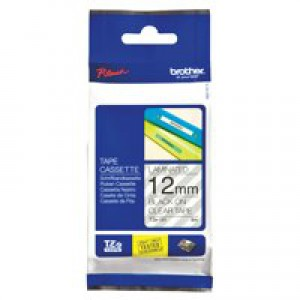 Brother P-Touch Tape 12mm Black/Clear TZE131