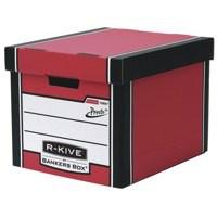 Fellowes Bankers Box Premium Presto Storage Box Red/White 7260603