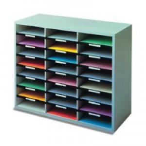 Fellowes Literature Sorter A4 24-Compartments Dark Grey 25041