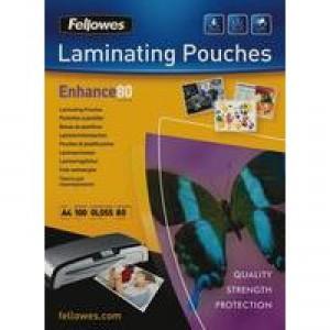 Fellowes Laminating Pouch A4 160micron Pk 100 5306101