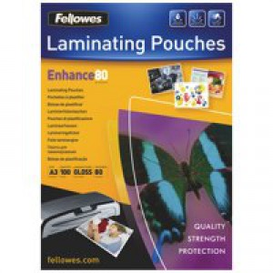Fellowes Laminating Pouch A3 160micron Pack of 100 5306201