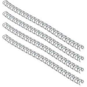 Fellowes Wire Binding Element 8mm Black Pack of 100 53261