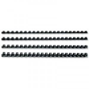Fellowes Binding Comb 19mm Black A4 Pk 100 53477