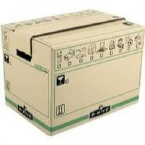 Fellowes R-Kive Moving Box X-Large Brown/Green Pack of 5 6205401 (FPC)