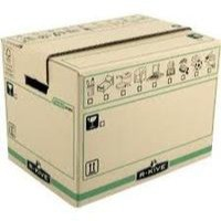 Fellowes Bankers Box Moving Box X-Large Brown/Green Pk 5 6205401 (FPC)