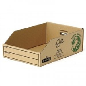 Fellowes Basics Parts Bin Corrugated Fibreboard Packed Flat W200xD280xH102mm Ref 07355 [Pack 50]