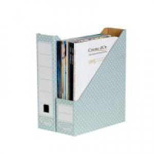 Fellowes Bankers Box Magazine File Green and White Pk10 4481501